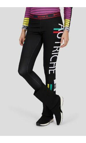 Sportalm Термо брюки с поясом-резинкой и рисунком сбоку