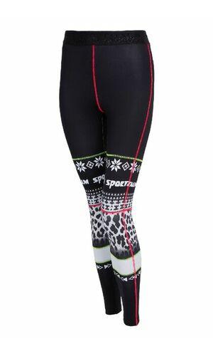 Sportalm Термо брюки с поясом-резинкой и рисунком