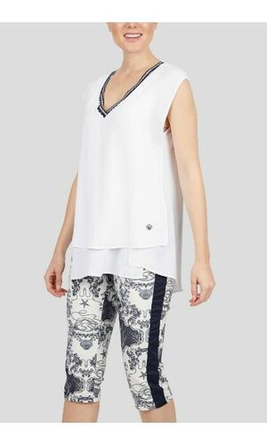 Sportalm Блуза с сеткой и V-образным вырезом