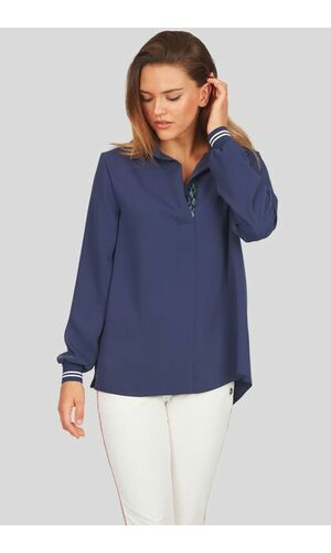 Sportalm Блуза с лентами и пайетками на вырезе