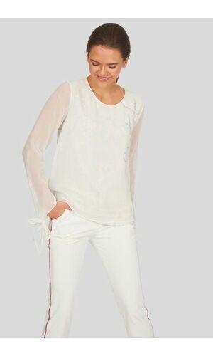 Sportalm Шифоновая блуза со змеиным принтом
