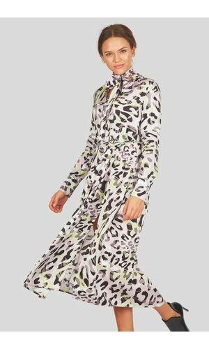 Sportalm Платье с галстуком-бабочкой и принтом