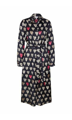 Sportalm Платье-халат из вискозы с сердцами
