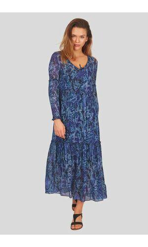 Sportalm Шифоновое платье со змеиным принтом