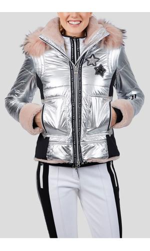 Sportalm Куртка-металлик с двумя видами меха