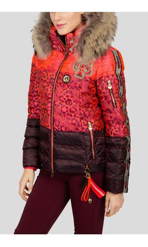 Sportalm Куртка с анималистичным принтом и мехом