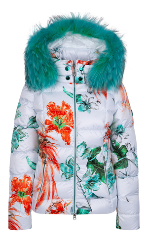 Sportalm Белая куртка с цветочным мотивом