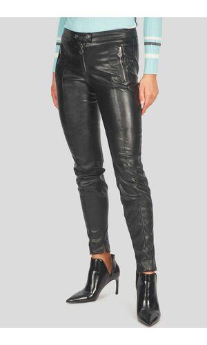 Sportalm Облегающие фигуру брюки из искусственной кожи