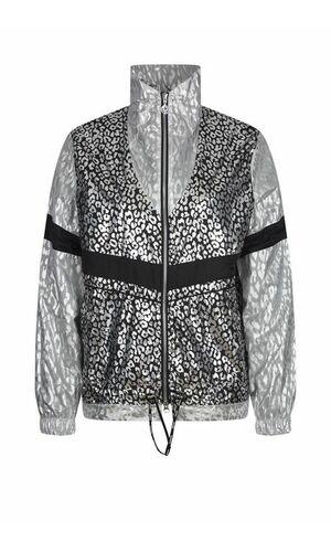Sportalm Спортивная нейлоновая куртка с леопардовым принтом