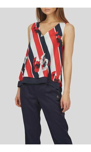 Sportalm Блузка в полоску с цветочными узорами